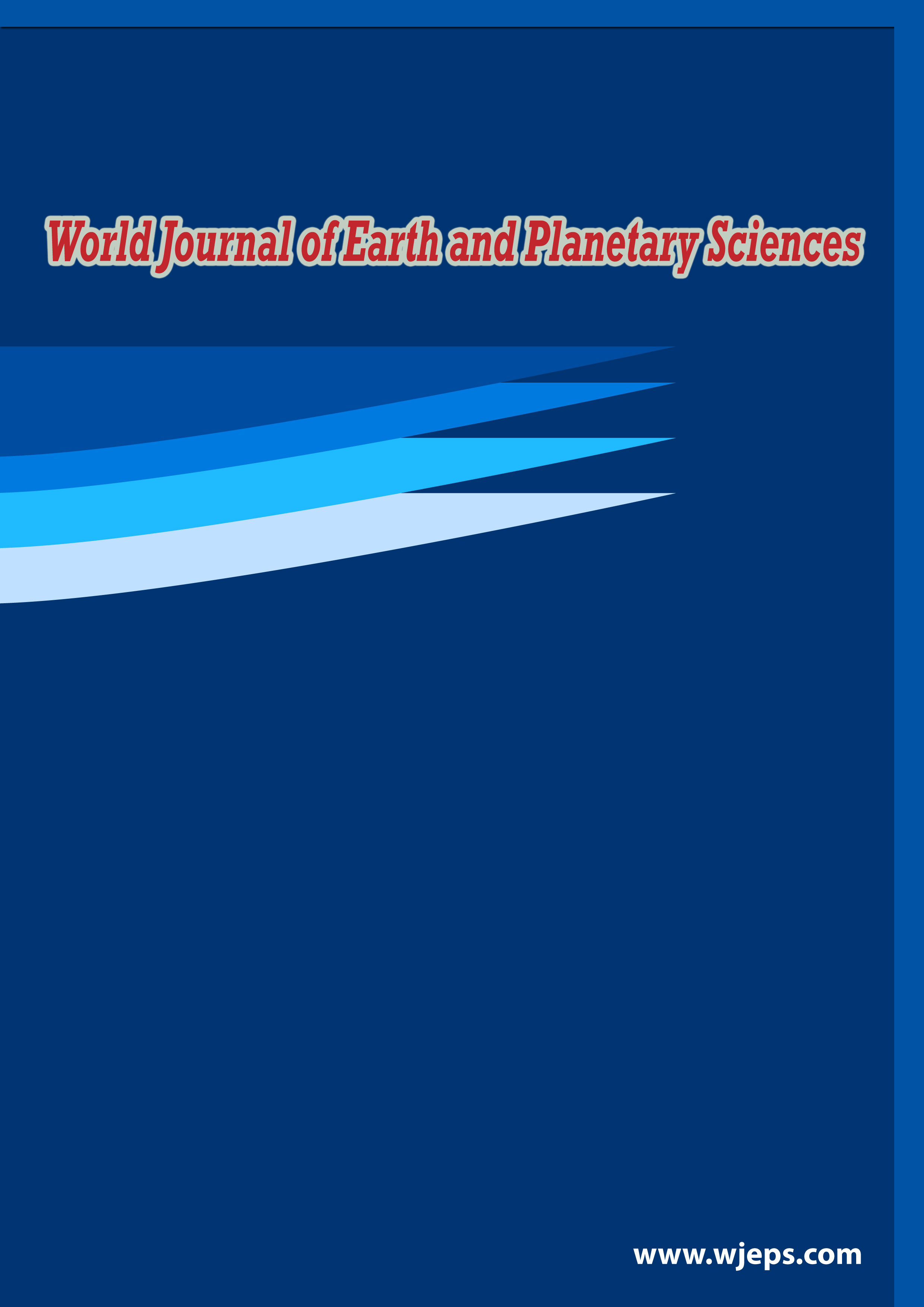 world journal of earth and planetary sciences cover page